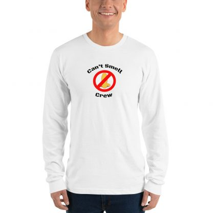 Cant Smell Crew Official Logo Long Sleeve T Shirt White