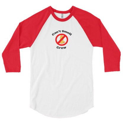 Cant Smell Crew Original Logo 3/4 Sleeve Raglan Red