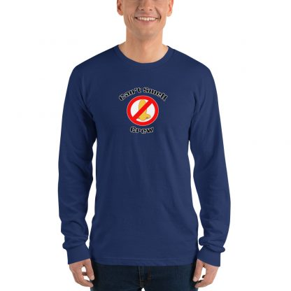 Cant Smell Crew Official Logo Long Sleeve T Shirt Blue