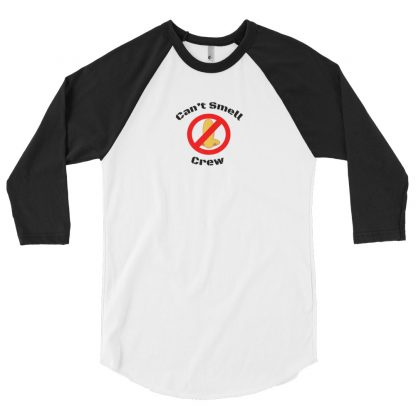Cant Smell Crew Original Logo 3/4 Sleeve Raglan Black