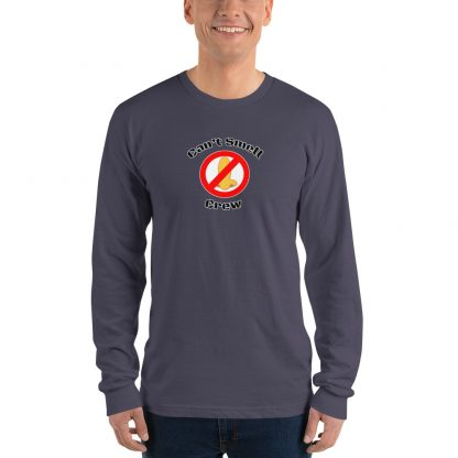 Cant Smell Crew Official Logo Long Sleeve T Shirt Grey
